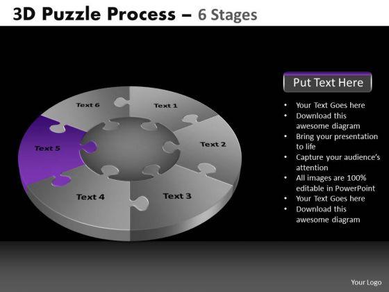 PowerPoint Slide Designs Sales Pie Chart Puzzle Process Ppt Presentation