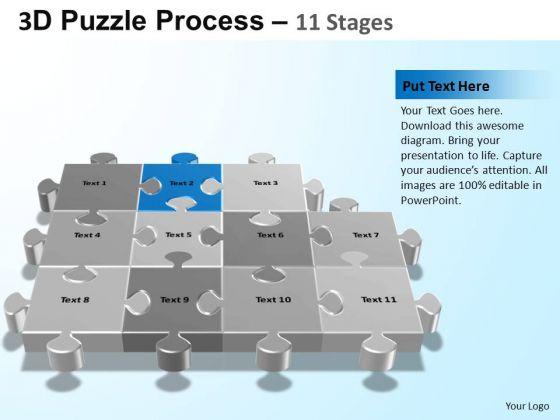 PowerPoint Slide Designs Sales Puzzle Process Ppt Presentation