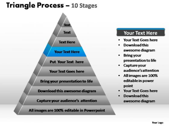 PowerPoint Slide Designs Sales Triangle Process Ppt Slides