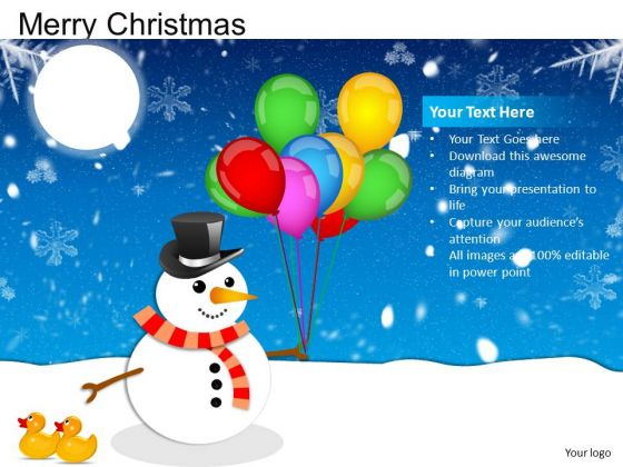 PowerPoint Slide Designs Showman Merry Christmas Ppt Layouts