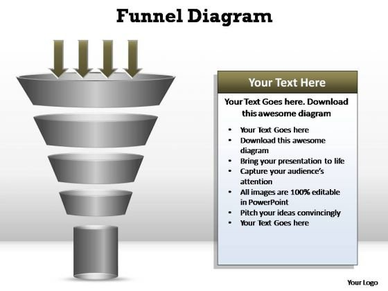 PowerPoint Slide Designs Strategy Funnel Diagram Ppt Backgrounds