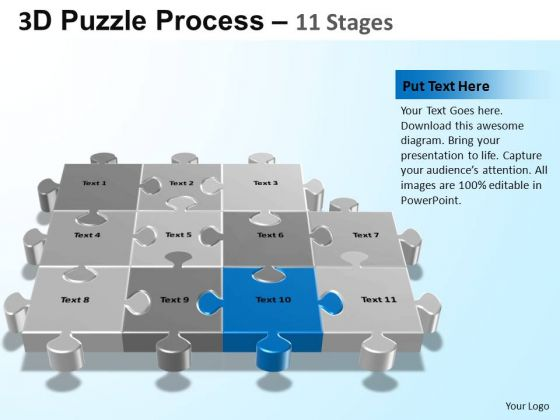 PowerPoint Slide Designs Strategy Puzzle Process Ppt Templates