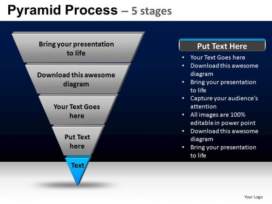 PowerPoint Slide Designs Strategy Pyramid Process Ppt Design Slides