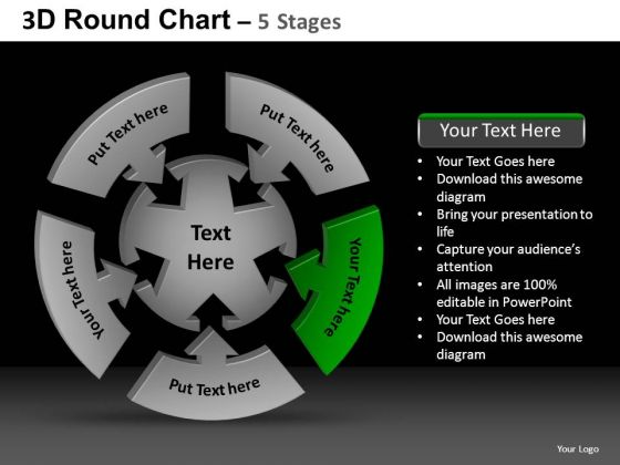 PowerPoint Slide Designs Strategy Round Chart Ppt Backgrounds