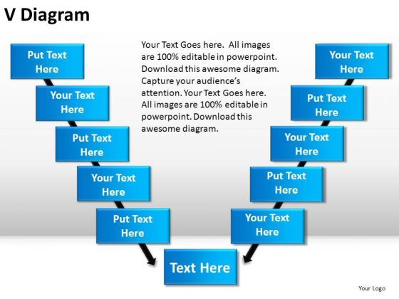 PowerPoint Slide Designs Strategy V Diagram Ppt Slides