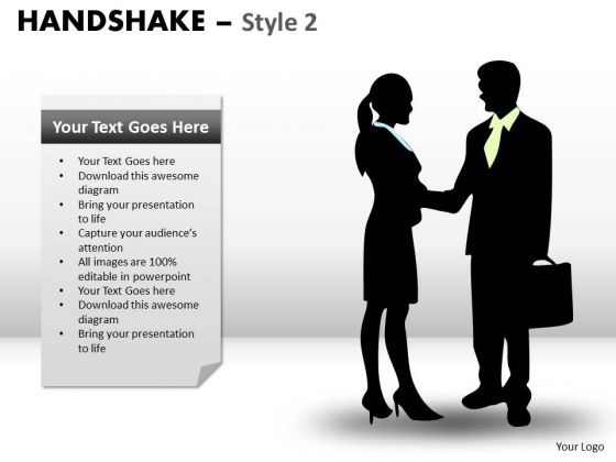 PowerPoint Slide Designs Success Handshake Ppt Designs