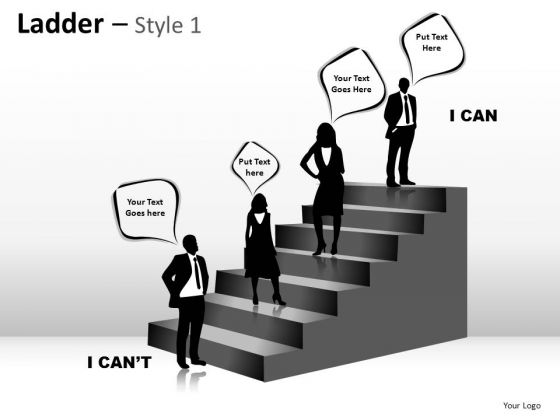 PowerPoint Slide Designs Success Ladder Ppt Templates