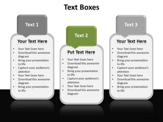 PowerPoint Slide Designs Success Textboxes Ppt Presentation