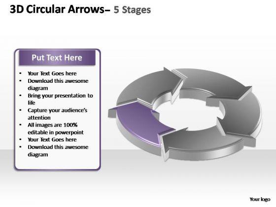 PowerPoint Slide Designs Teamwork Circular Arrows Ppt Design