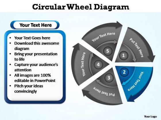 PowerPoint Slide Designs Teamwork Circular Wheel Ppt Backgrounds