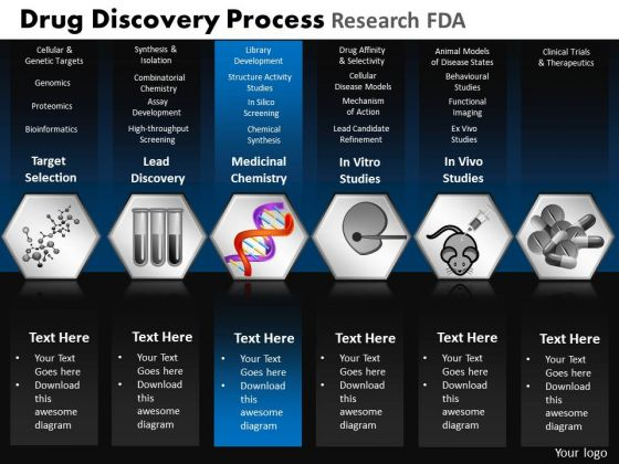 PowerPoint Slide Designs Teamwork Drug Discovery Ppt Slides