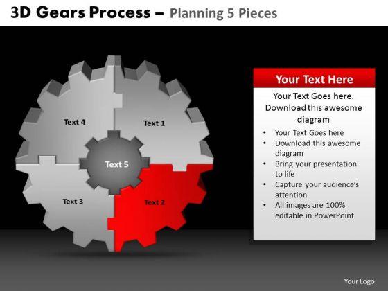PowerPoint Slide Designs Teamwork Gears Process Ppt Slidelayout