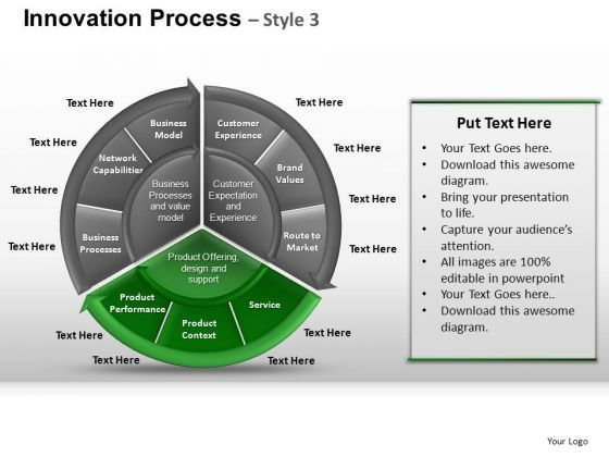 PowerPoint Slide Designs Teamwork Pie Chart Ppt Process