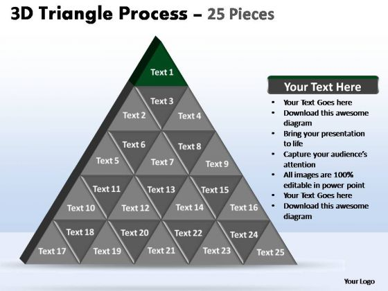 PowerPoint Slide Designs Teamwork Triangle Process Ppt Template