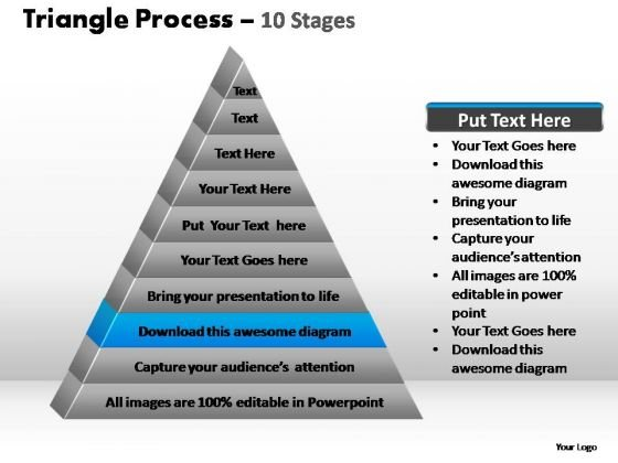 PowerPoint Slide Designs Teamwork Triangle Process Ppt Theme