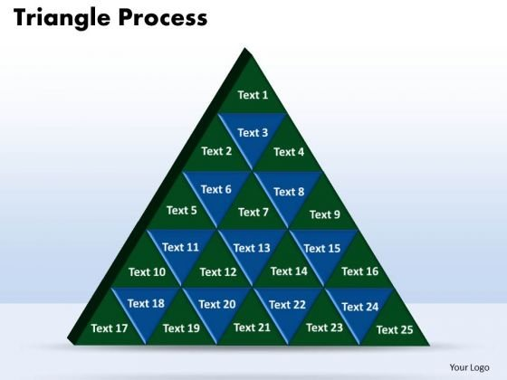 PowerPoint Slide Designs Triangle Process Chart Ppt Template