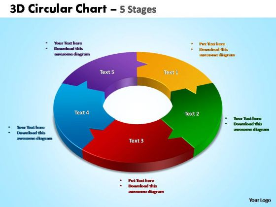 PowerPoint Slide Diagram Circular Chart Ppt Themes