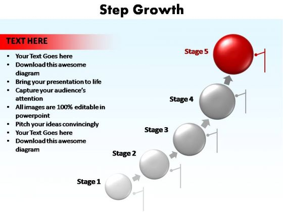 PowerPoint Slide Diagram Step Growth Ppt Theme