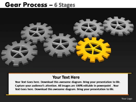 PowerPoint Slide Download Gears Process Ppt Theme