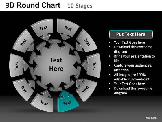 PowerPoint Slide Download Round Chart Ppt Layout
