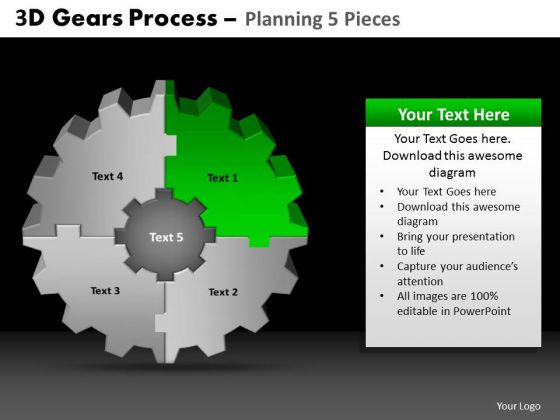 PowerPoint Slide Editable Gears Process Ppt Design