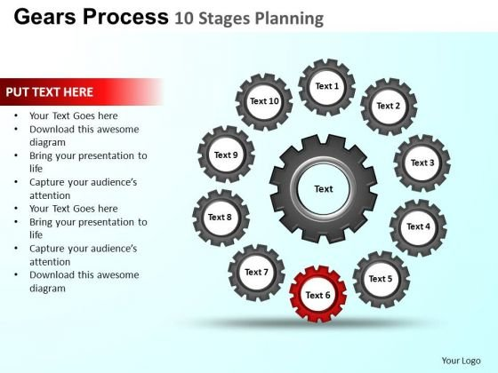PowerPoint Slide Editable Gears Process Ppt Design Slides