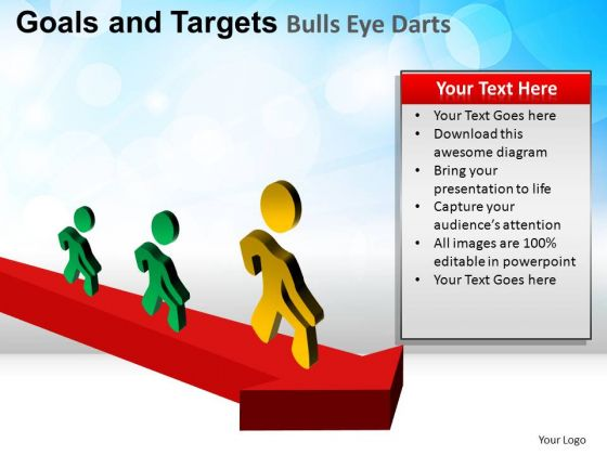 PowerPoint Slide Editable Goals And Targets Ppt Presentation