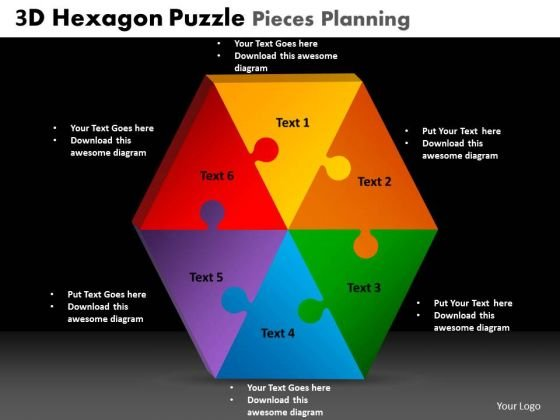 PowerPoint Slide Editable Hexagon Puzzle Ppt Slide Designs