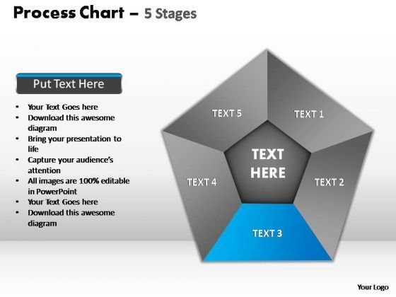PowerPoint Slide Editable Process Chart Ppt Template