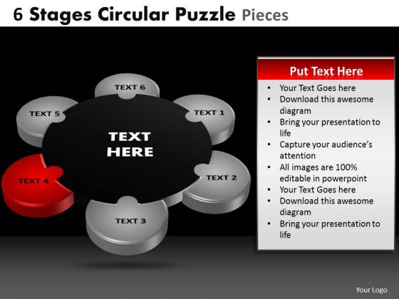 PowerPoint Slide Education Circular Puzzle Ppt Slides