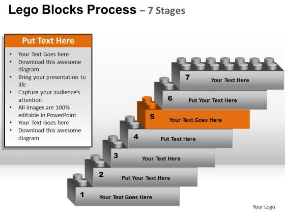 PowerPoint Slide Education Lego Blocks Ppt Slide