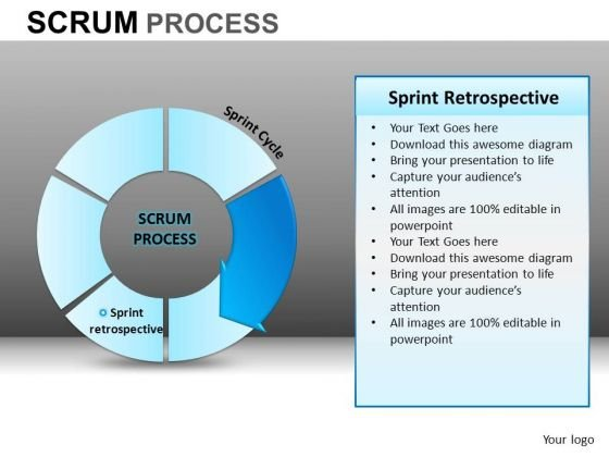 PowerPoint Slide Executive Leadership Scrum Process Ppt Presentation Designs