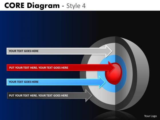PowerPoint Slide Executive Success Targets Core Diagram Ppt Theme