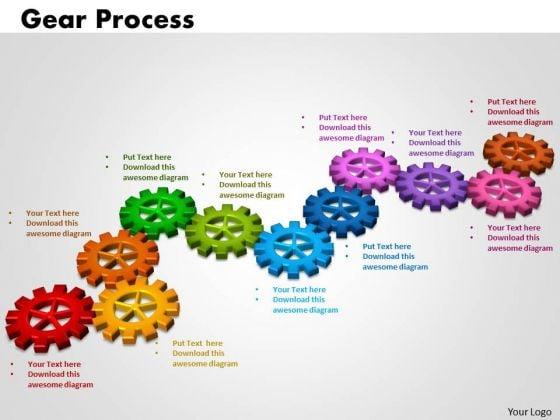 PowerPoint Slide Gears Process Teamwork Ppt Slides
