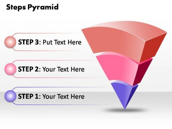 PowerPoint Slide Global Business 3 Steps Pyramid Ppt Design Slides