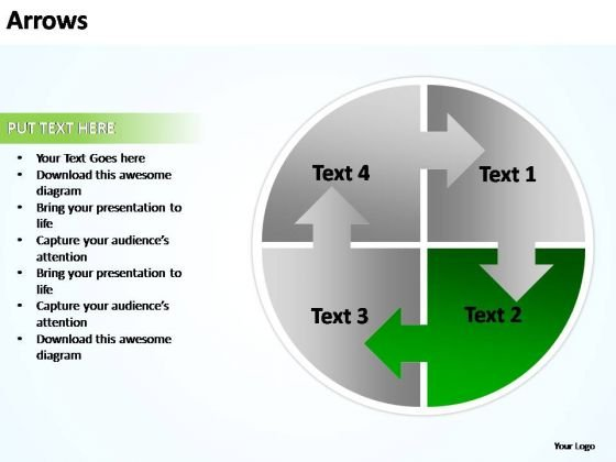 PowerPoint Slide Global Business Arrows Ppt Design