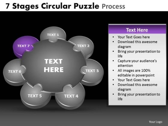 PowerPoint Slide Global Circular Puzzle Ppt Slide