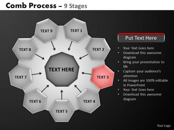 PowerPoint Slide Global Hub And Spokes Process Ppt Presentation