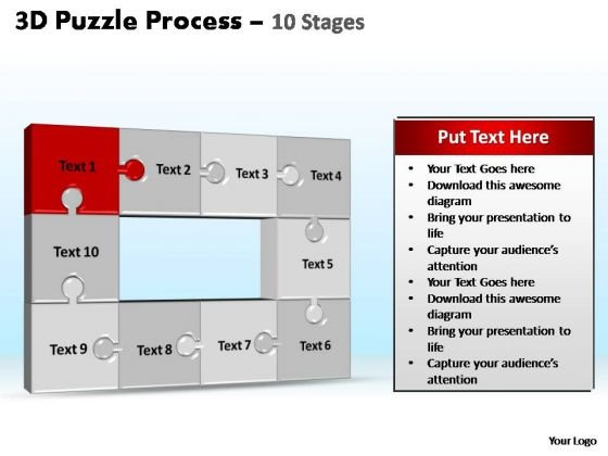 PowerPoint Slide Global Puzzle Process Ppt Design