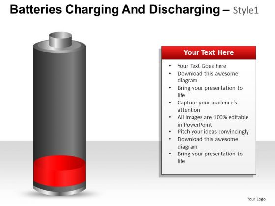 PowerPoint Slide Graphic Batteries Charging And Discharging Ppt Layout