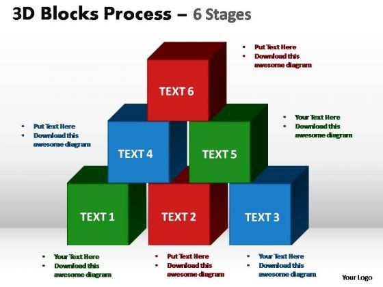 PowerPoint Slide Graphic Blocks Process Ppt Theme
