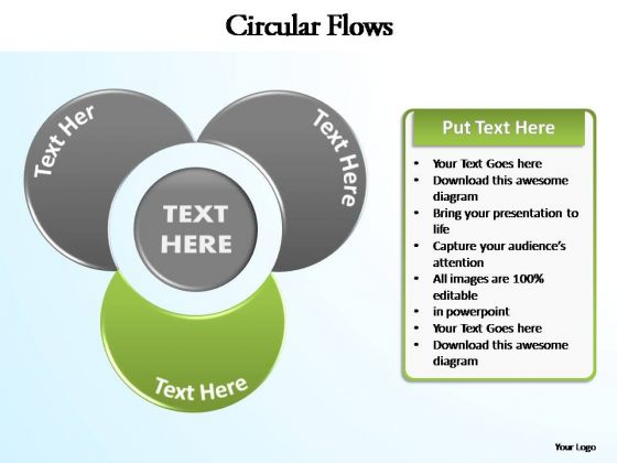 PowerPoint Slide Graphic Circular Flow Ppt Template