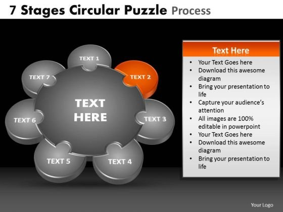 PowerPoint Slide Graphic Circular Puzzle Ppt Theme