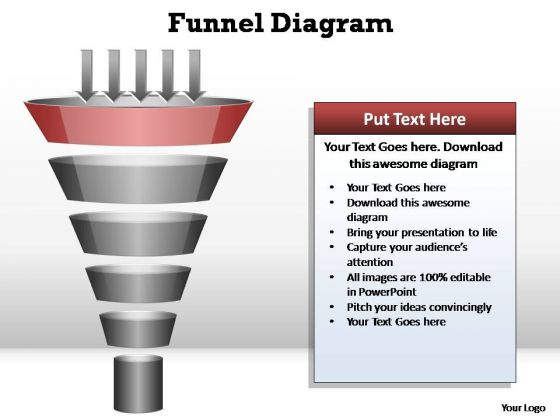 PowerPoint Slide Graphic Funnel Diagram Ppt Designs