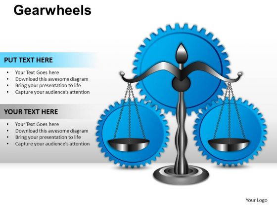 PowerPoint Slide Graphic Gearwheels Ppt Design