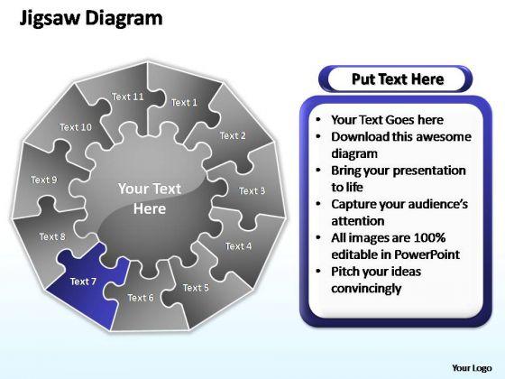 PowerPoint Slide Graphic Multiple Jigsaw Ppt Slides