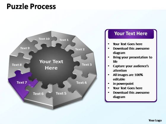 PowerPoint Slide Graphic Puzzle Business Ppt Design