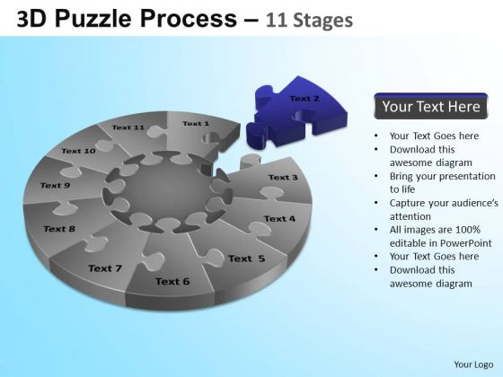 PowerPoint Slide Graphic Puzzle Segment Pie Chart Ppt Backgrounds