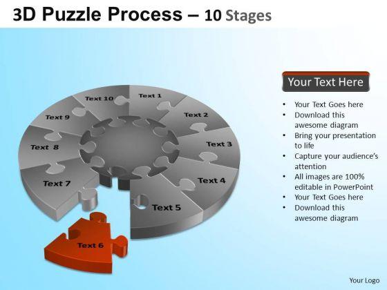 PowerPoint Slide Graphic Puzzle Segment Pie Chart Ppt Design Slides