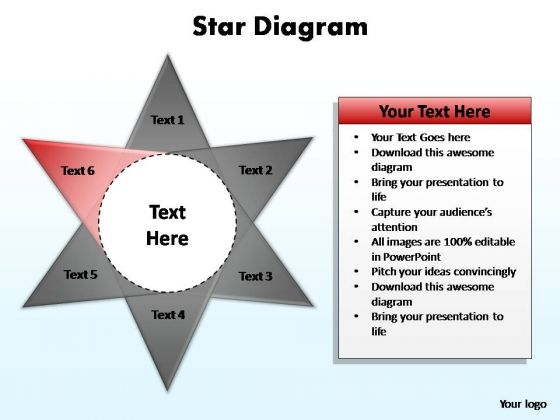 PowerPoint Slide Graphic Star Diagram Ppt Theme